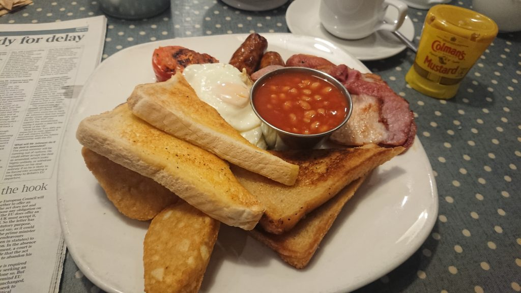 Traditional English breakfast Selsey Chichester Harbour