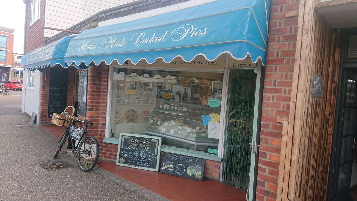 Home made meat pies East Wittering Chichester Harbour