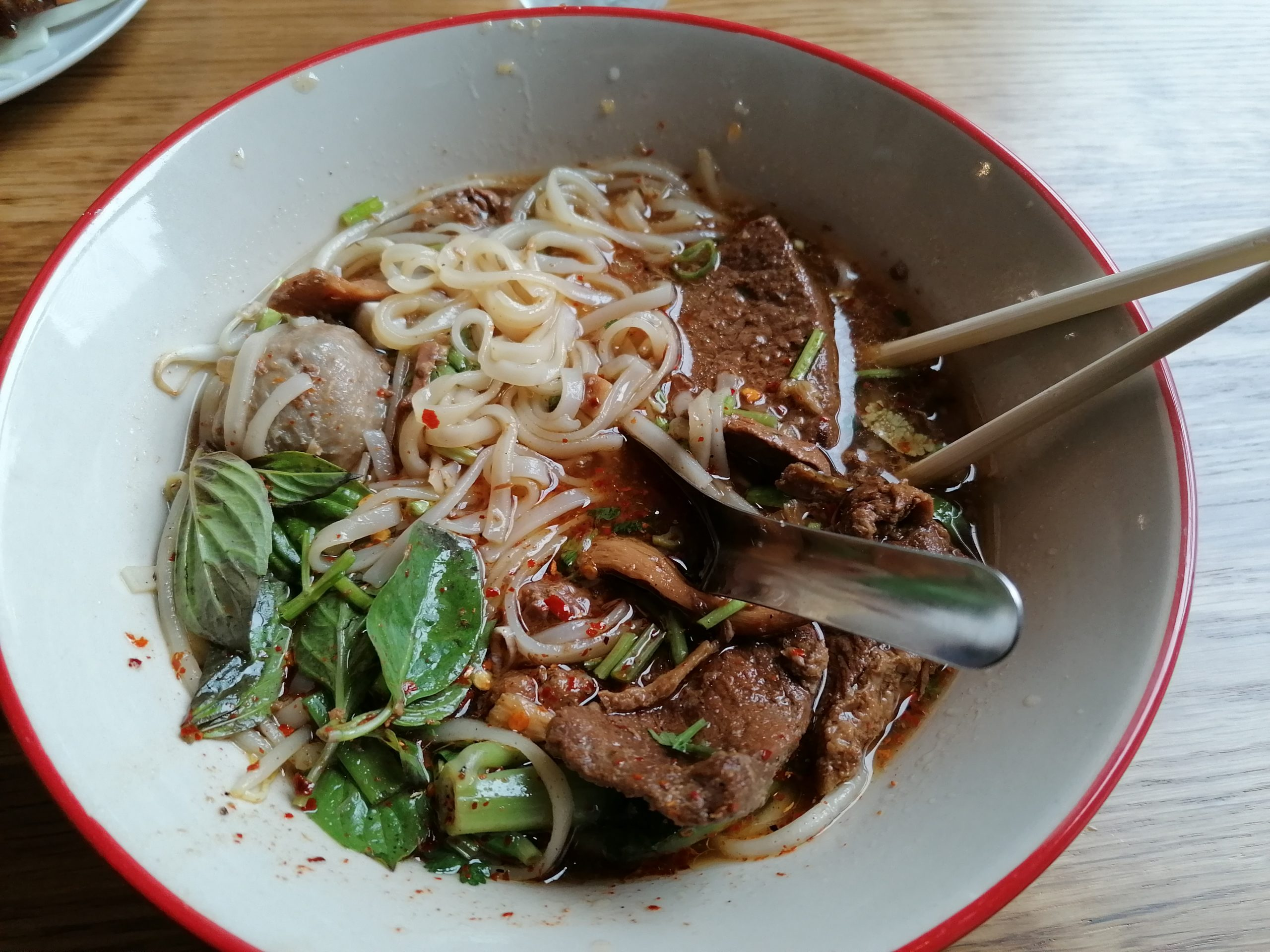 Thai noodles soup in Portsmouth on the South Coast