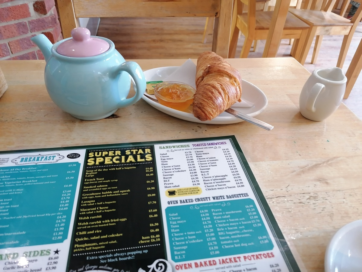 Warm breakfast croissant Emsworth Chichester Harbour